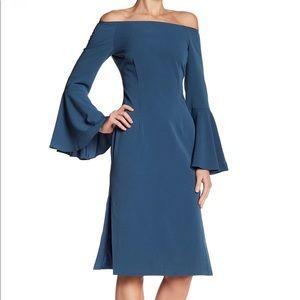 KEEPSAKE Harmony Off Shoulder Bell Sleeve Dress